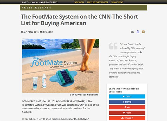 THE FOOTMATE SYSTEM on CNN